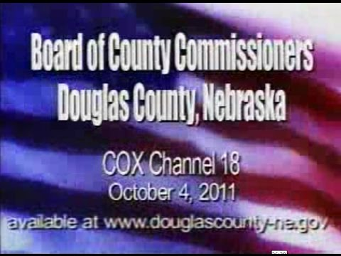 Board of County Commissioners, Douglas County Nebraska, October 4, 2011 Meeting