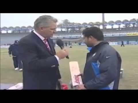 Sachin Tendulkar interview batting Equipments