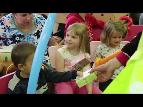 Видео детского праздника в гродской больнице