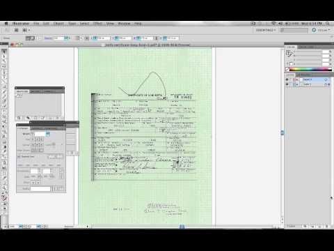 Obama Birth Certificate Faked In Adobe Illustrator - Official Proof 1 ( Layers )