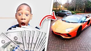 I Gave My Little Brother $1,000 To Spend For 24 Hours! (He Got A Lamborghini)