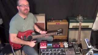TheGigRig G2 pedalboard switcher Delay Spillover trails demo, ADRX20, LazyJ J20, Les Paul Jr