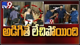 24 kisses controversy : Hebah Patel walks out of TV9 Interview! - TV9