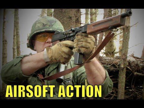 Airsoft War BAR M1918. VSR. M14 Scotland HD