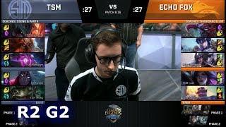 Echo Fox vs TSM - Game 2 | Round 2 S8 NA Regional Qualifier for S8 Worlds 2018 | TSM vs FOX G2