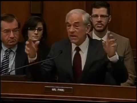 Ron Paul Holds Up Silver Ounce and Tells Bernanke He