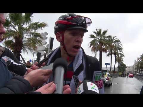 Dylan Teuns - interview na de aankomst - Rit 8 - Parijs-Nice / Paris-Nice 2018