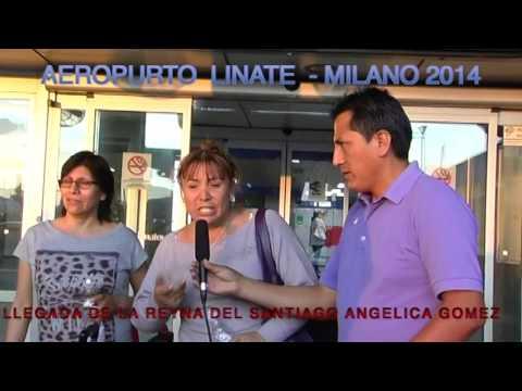 LLEGADA A ITALIA DE ANGELICA GOMEZ LA REYNA DEL SANTIAGO