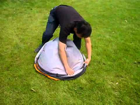 Teach you how to fold a 2 seconds tent