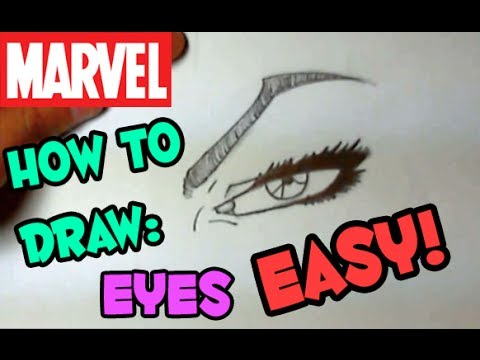 How to Draw Marvel Style Eyes