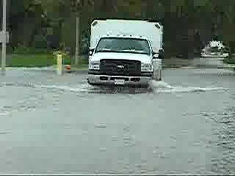 Flooded roads in Rantoul, IL