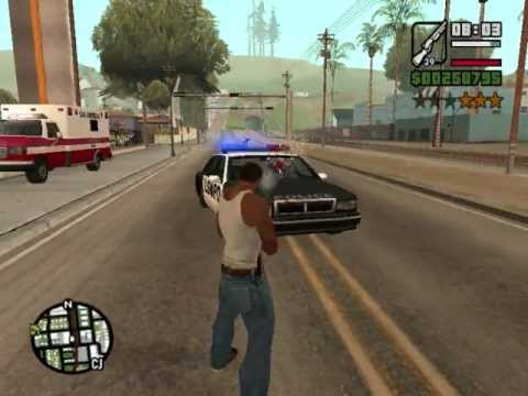 Gta San Andreas - Police battle