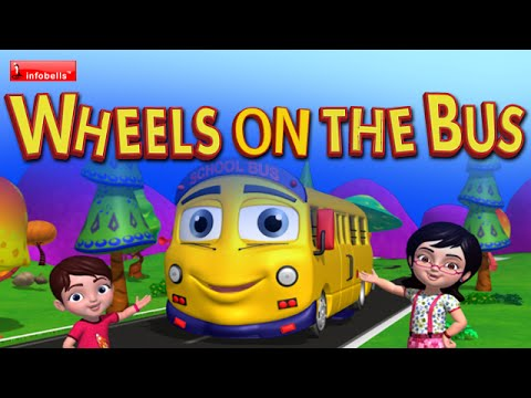 The Wheels On The Bus Go Round And Round - English Nursery Rhymes For Children video