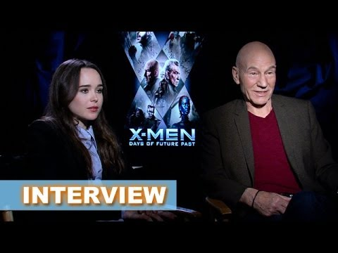 X-Men Days of Future Past Interview Today! Patrick Stewart and Ellen Page - Beyond The Trailer