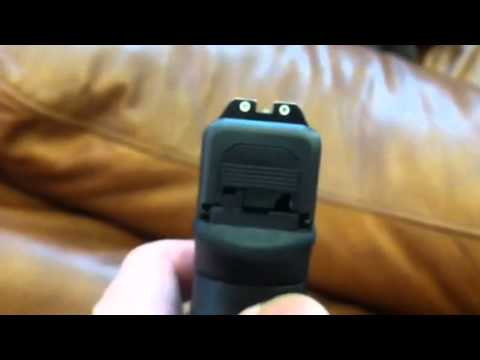 Glock 23 gen 4 trijicon night sights