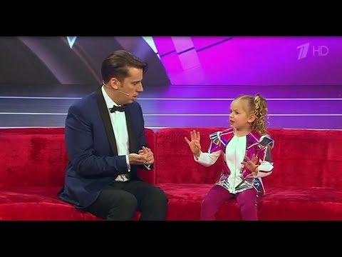 The smartest 5-year girl from Malta on Russian TV show Little big shots