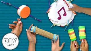 4 MUSICAL INSTRUMENTS Crafts you can do with your kids | Fast-n-Easy | DIY Arts & Crafts for Kids