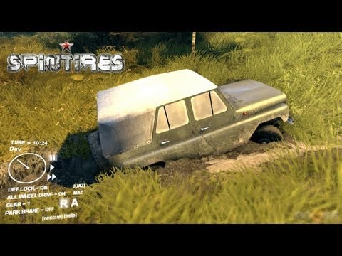 Spin Tires 2013 Tech Demo - Jun 6 Update - Map Extended - UAZ Jeep Exploring the Map part 2