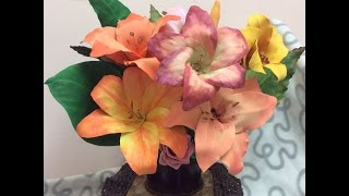 Como hacer Centro de Mesa Para flores-How to make centerpiece for flowers