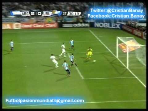 Argentina 3 Uruguay 0 (Relato Pablo Ladaga  ) Eliminatorias Brasil 2014 Los goles (12/10/2012)