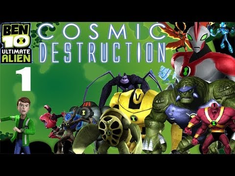 Let's Play Ben 10 Ultimate Alien: Cosmic Destruction #1 - Rumble in the Ruins