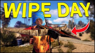 An AWESOME WIPE DAY to RETURN TO RUST! - Rust Solo Survival #1