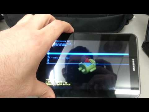 How to Hard Reset/Factory Reset Samsung Galaxy Tab 2 7.0 Android Tablet