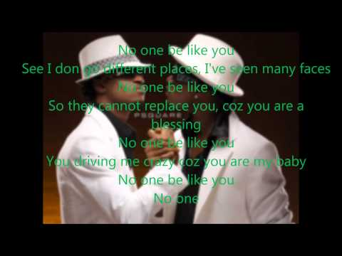 P-square - No One Like You Lyrics video