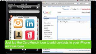 CardMunch syncs with Google Contacts, Microsoft Exchnage and more