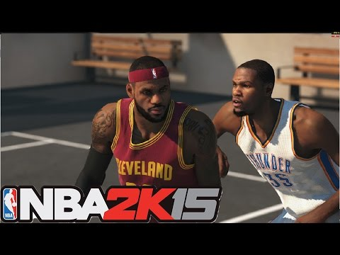 Nba 2k15   Lebron James Vs Kevin Durant  NEW BLACKTOP MODE