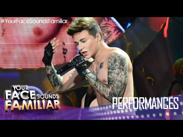 "Your Face Sounds Familiar: Sam Concepcion as Justin Bieber - ""Boyfriend/Sorry"""