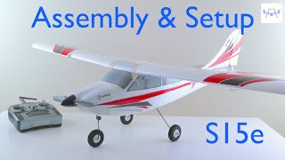 E Flite Apprentice S15e Unboxing Part 2: Assembly, Setup, Binding and Mod