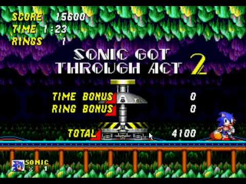 Sonic the Hedgehog 2 - Sonic 2 - Mystic Cave Speed Run - User video