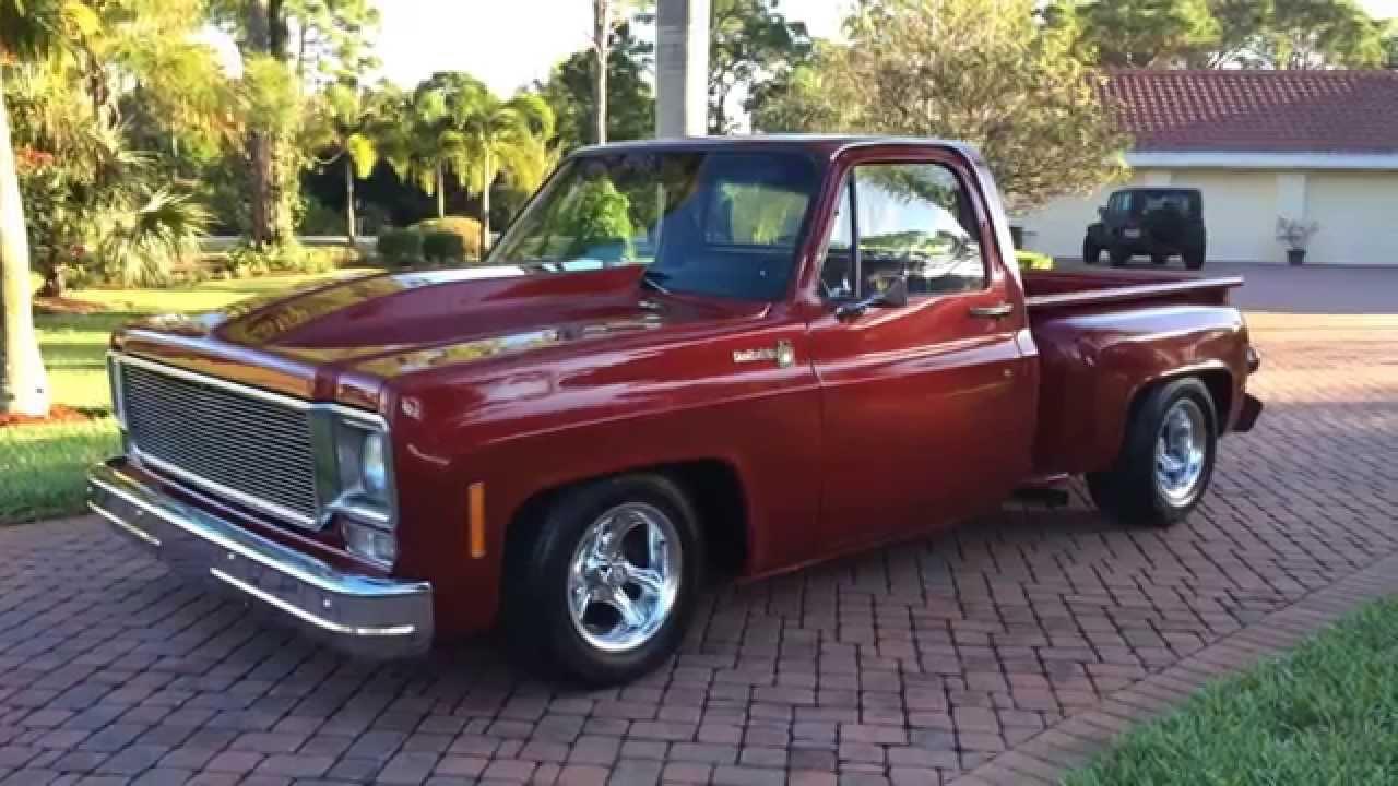 sold 1976 chevrolet c10 stepside pickup truck for sale. Black Bedroom Furniture Sets. Home Design Ideas