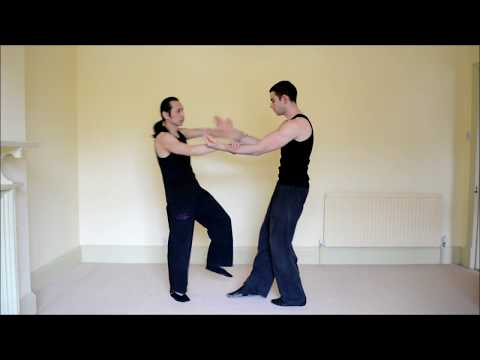 Wing Tjun (aka. Wing Tsun/Wing Chun) chi-sao training demonstration Image 1