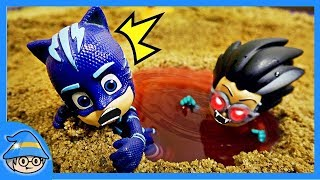 PJ Masks Catboy saw water ghost. The adventure of a Haunted place.