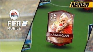 FIFA MOBILE 93 MOTM NAINGGOLAN REVIEW | 93 CAM MOTM RADJA NAINGGOLAN PLAYER REVIEW & GAMEPLAY