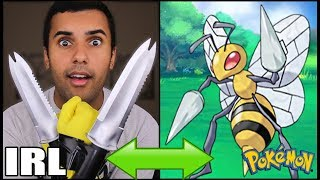 download lagu Insane Pokemon Attacks In Real Life Challenge Beedrill Poison gratis