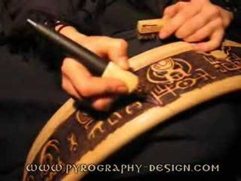 Julia Surba: Pyrography on frame drum