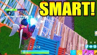 How To Play: SMART in FORTNITE BATTLE ROYALE!!!!