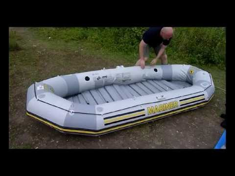 How to assemble diy Intex Mariner 4 inflatable homemade dinghy cabin sailboat Schlauchboot