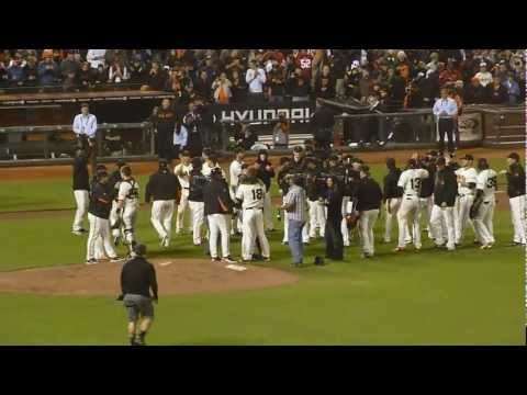 Matt Cain's Perfect Game - Last Out & Celebration!