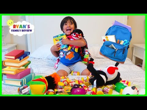 WHAT'S IN MY BACKPACK 2018??? Back To School Challenge with Ryan's Family Review!!!
