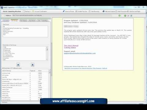 0 Article submitting software Automatic Article Submitter Pt3