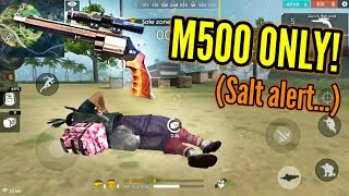 M500 ONLY CHALLENGE! (Lag clutch!) - Garena Free Fire