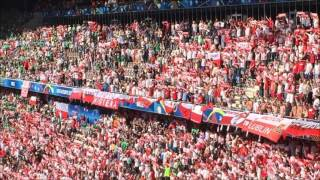 Fans at the match Poland - Northern Ireland. 2016-06-12
