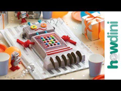 How to make a robot cake -  Robot torta készítése