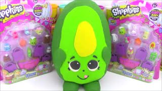 Giant Shopkins Play Doh Surprise Egg Dippy Avocado Season 2 Shopkin