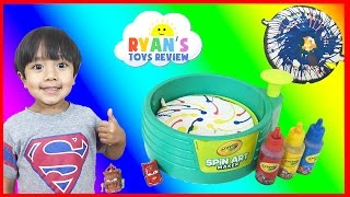 Crayola Spin Art Maker Paint Toy For Kids Disney Cars Toys Ryan ToysReview