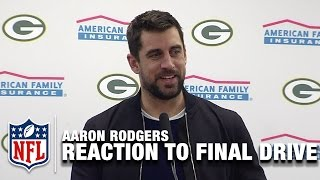 Aaron Rodgers Reaction to Game-Winning Drive   Packers vs. Cowboys    NFL Divisional